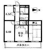 最上階、5階部分の東向き角部屋。