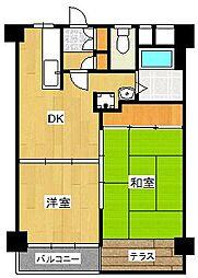 フドウ赤坂[7階]の間取り