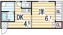 木村マンション[2階]の間取り
