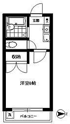 東京都練馬区豊玉北1丁目の賃貸アパートの間取り