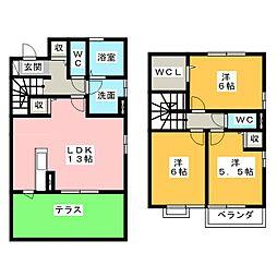 レセンテ・ジョイア[1階]の間取り