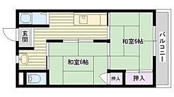 あさひマンション[204号室]の間取り