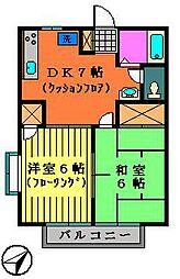 サンヒルズ井上II[2階]の間取り