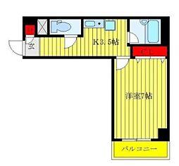 アキマンション[4階号室]の間取り