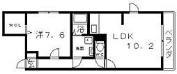 ピュアコートIII[1階]の間取り