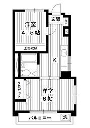 東京都練馬区豊玉北3丁目の賃貸マンションの間取り