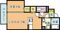 メゾンドグロウ22[1階]の間取り