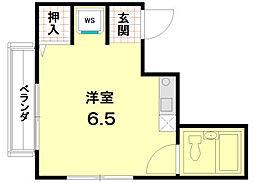 メゾン笹田[202号室]の間取り