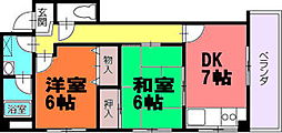 香川県高松市番町2丁目の賃貸マンションの間取り