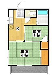 ハイム福井[102号室]の間取り