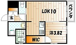 Studie TOBIHATA 7階1LDKの間取り