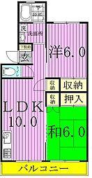 小松コーポ[202号室]の間取り