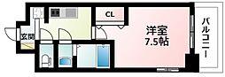 Osaka Metro御堂筋線 東三国駅 徒歩14分の賃貸マンション 4階1Kの間取り