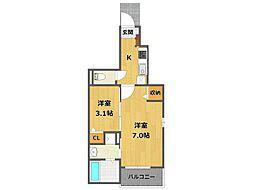 昆陽3丁目アパート[201号室]の間取り