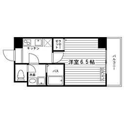 Osaka Metro谷町線 太子橋今市駅 徒歩4分の賃貸マンション 7階1Kの間取り