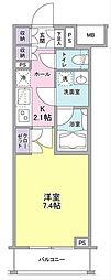 コンフォリア横濱関内[9階]の間取り
