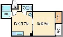 サンライフ菅原 3階1DKの間取り
