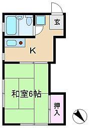 前沢荘[2階]の間取り