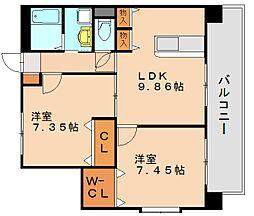 プレジールカヤシマ弐番館[5階]の間取り