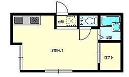 アーバンハイツ船木II[203号室]の間取り