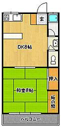 兵庫県神戸市北区鈴蘭台東町5丁目の賃貸マンションの間取り