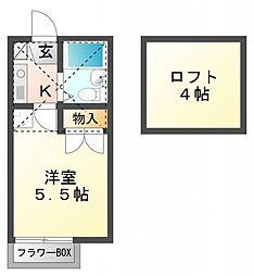 ルーブル国分寺[2階]の間取り