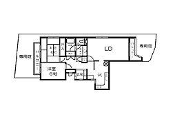 シャルム六本松[1階]の間取り