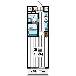 クリスタル昭和[702号室]の間取り