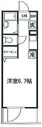 東京都板橋区赤塚新町3丁目の賃貸マンションの間取り
