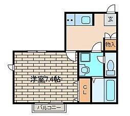 キャナル片平[1階]の間取り