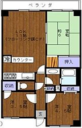 WJ・A-12[402号室]の間取り