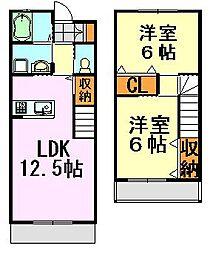 メゾンアーツYK 弐番館[5号室]の間取り