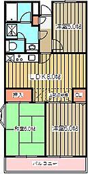 京王小金井マンション[411号室]の間取り