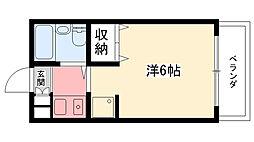 エクセレント武庫川[101号室]の間取り
