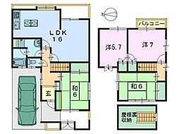 [一戸建] 奈良県橿原市木原町 の賃貸【/】の間取り