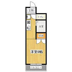 ブリックフォート アシハラ[2階]の間取り