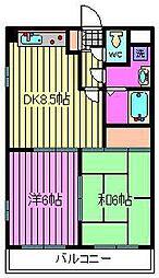 プレステージ富士[203号室]の間取り