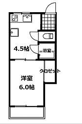 福田アパート[1階]の間取り