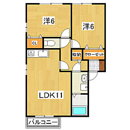 シエスタ (因幡)[2階]の間取り