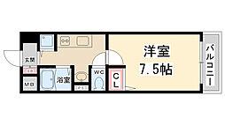 兵庫県伊丹市梅ノ木1丁目の賃貸マンションの間取り