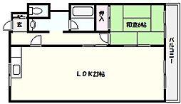 マンション千香苑[2階]の間取り
