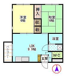 第一青木ビル[301号室]の間取り