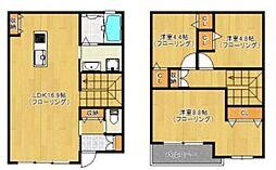 福岡県福岡市中央区平尾浄水町の賃貸アパートの間取り