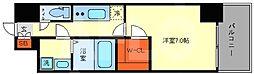エスプレイス大阪ガルフレジデンス 2階1Kの間取り