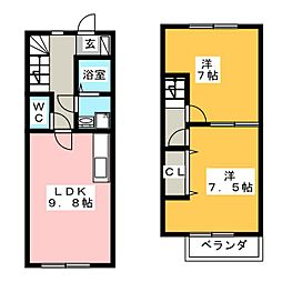 [テラスハウス] 静岡県浜松市東区薬新町 の賃貸【/】の間取り