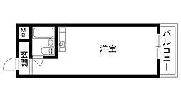 兵庫県西宮市末広町の賃貸マンションの間取り
