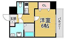 U-ro北巽 9階1Kの間取り