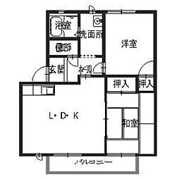 兵庫県姫路市網干区大江島の賃貸アパートの間取り