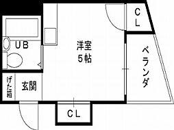 シティハイツ布施[3階]の間取り
