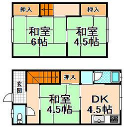 [一戸建] 兵庫県伊丹市荻野8丁目 の賃貸【/】の間取り